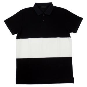 H.I.P. by SOLIDO(エイチアイピー バイ ソリード) 「GHISA」鹿の子ボーダー ポロシャツ【ブラック×ホワイト】 giottostile