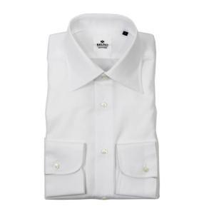 BRUNO(ブルーノ)18-19AW セミワイドカラー ブロード シャツ【ホワイト】|giottostile