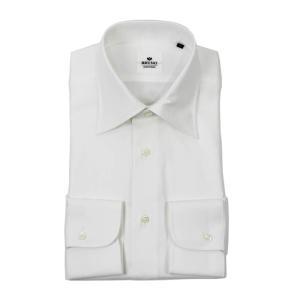 BRUNO(ブルーノ)18-19AW セミワイドカラー ロイヤルオックス シャツ【ホワイト】|giottostile