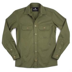 GRENFELL(グレンフェル)19SS「Overshirt」コットン オーバーシャツ【オリーブ】 giottostile