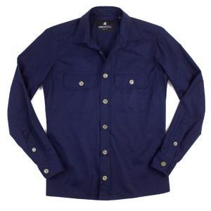 GRENFELL(グレンフェル)19SS「Overshirt」コットン オーバーシャツ【ネイビー】 giottostile