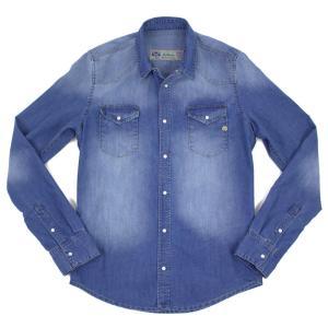 Shaft JEANS(シャフトジーンズ)19SS「Camicia Western」デニム ウェスタン シャツ【インディゴブルー】 giottostile