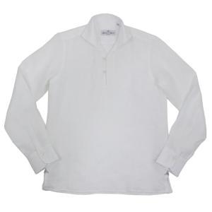 MASSIMO D'AUGUSTO(マッシモ ダウグスト)19SS「ALAMARI」リネン カプリシャツ【ホワイト】|giottostile