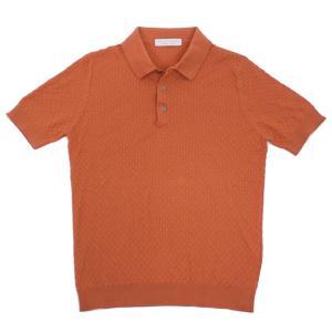 FILIPPO DE LAURENTIIS(フィリッポ デ ローレンティス)19SS コットン ニット ポロシャツ【オレンジ】 giottostile