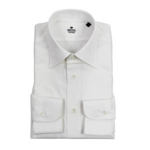 BRUNO(ブルーノ)19SS セミワイドカラー ブロード ドレス シャツ【ホワイト】|giottostile