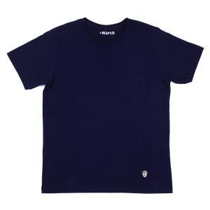 Cento Per Cento(チェントぺルチェント)19SS 「Marco」クルーネック 半袖 Tシャツ【ネイビー】 giottostile