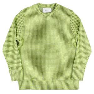 Seagreen(シーグリーン)19-20A/W オニワッフル クルーネック カットソー【イエロー】 giottostile
