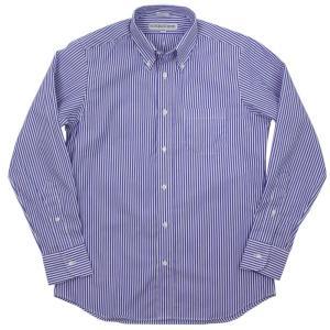 INDIVIDUALIZED SHIRTS(インディヴィジュアライズド シャツ)19-20A/W ベンガルストライプ ボタンダウンシャツ【ブルー×ホワイト】|giottostile