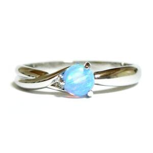 Opal 10月の誕生石 オパール シルバー リング 指輪 ユニセックス 男女兼用 レディース メンズ|girlie-style