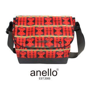 SALE アネロ anello ショルダーバッグ EXOTIC/エキゾチック メッセンジャーバッグ A5 大容量 ネイティブ柄 幾何学文様 レディース メンズ|girlseggpetit