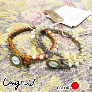 Ungrid アングリッド  パールヘンプブレス 111330961501|girlsgirl