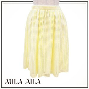 AULA AILA アウラアイラ  スクエアエンブロイダリースカート 1151-07063|girlsgirl