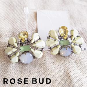 ROSE BUD BU ACCESSORIES ローズバッド  ラインストーンイヤリング 128271|girlsgirl