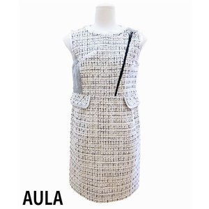 AULA アウラ  シルバーレザーパーツワンピース 3143-03013|girlsgirl