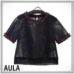 AULA アウラ  メッシュショートトップス 3143-08051|girlsgirl