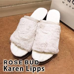 ROSE BUD/KAREN LIPPS ローズバッド/カレンリップス ウェッジソールファーサンダル(ピンク) 601-7257001|girlsgirl
