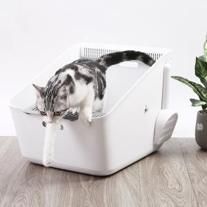 空気を清潔に保つピュラ エアがついた猫用トイレ■備考:トイレ内の空気を清潔に保つ「ピュラ エア」が付...