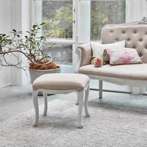 椅子 背もたれなし ホワイト 姫 白 スツール ハンプトンスタイル|girlyapartment