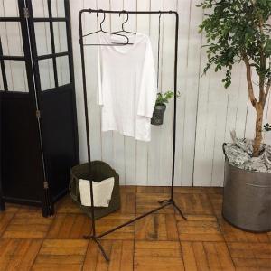 ハンガー 洋服掛け ショップ風 ハンギングラック ディスプレイ アイアン ハンガーラック L|girlyapartment