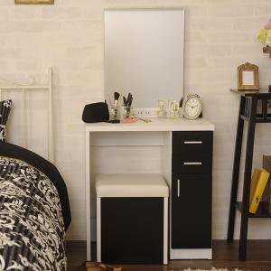 ドレッサー ミラー 一面鏡 1面鏡 ドレッサー 鏡台 椅子付き  ドレッサー&スツール 一面鏡 |girlyapartment