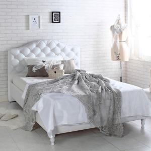 ロココ プリンセス ヨーロピアン ホワイト 白 ブリティッシュ アンティーク風 ベッドフレーム  シングル|girlyapartment