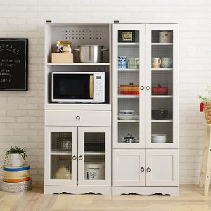 炊飯器 スライド棚 収納 食器棚 かわいい レンジ台 60cm幅  アンティークスタイルファニチャー girlyapartment