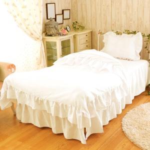 布団カバー 掛け布団カバー ボックスシーツ セット ピロケース ピュアプリンセス 布団カバー ベッド用 セミダブル3点セットの写真