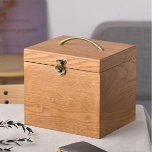 木製 メイクボックス コスメティック 鏡 北欧 ナチュラルウッド 横型 コスメボックス ワイドミラーの写真