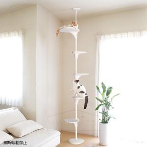 猫 キャットタワー おしゃれ キャットツリー 突っ張り OPPO(オッポ) Cat Forest キ...