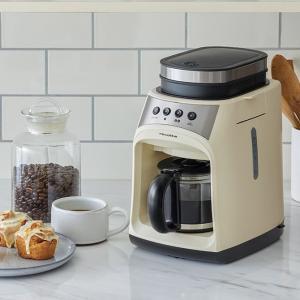 ギフトにも 挽きたての香りが楽しめるコーヒーメーカー●挽きたての香り高いコーヒーが自宅で楽しめる、ミ...