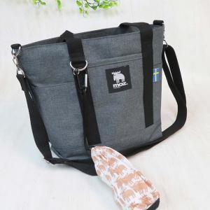 お散歩バッグ 犬 ショルダー トート バッグ 鞄 かわいい おしゃれ モズ moz 2way (グレー)の商品画像|ナビ