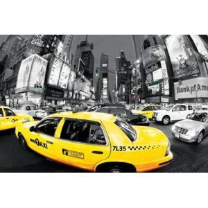 ポスターRUSH HOUR TIMES SQUARE タイムズスクエアー/ Yellow Cabs gita