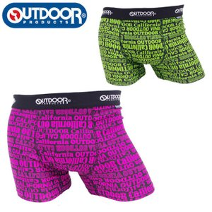 アウトドア ボクサーパンツ メンズ パンツ メンズ下着 アンダーウェア 英字柄 OUTDOOR PRODUCTS 全2色 M L LL AD0111B102 メール便 送料無料|gita