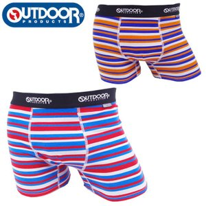 アウトドア ボクサーパンツ メンズ パンツ メンズ下着 アンダーウェア ボーダー柄 OUTDOOR PRODUCTS 全2色 M L LL メール便 送料無料|gita