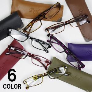老眼鏡 おしゃれ 女性用 男性用 BGT1009 シニアグラス メガネケース付き 度数 1.0-3.0 エレガント コンパクト 携帯|gita