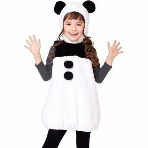 ハロウィン 衣装 子供 コスプレ 仮装 女の子 コスチューム キュートパンダ キッズ 100cm/120cm/140cm 子供 着ぐるみ ふわもこ素材 かぶりもの パンダ 変装 イベ|gita