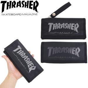 THRASHER/スラッシャー 財布 長財布 メンズ 小銭あり ウオレット TH065 コイン カギ 鍵 カード サイフ 通学郵 メール便 送料無料|gita