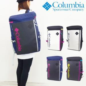 コロンビア バッグ リュック 大容量 ボックス スクエアリュック メンズ/レディース ネイビー/ホワイト PU2234 Columbia リュックサック バックパック おしゃれ|gita