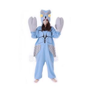 着ぐるみ パジャマ 大人用 フリース ハロウィン コスプレ 仮装 バルタン星人 BAN210 ウルトラマン 怪獣 着ぐるみパジャマ 衣装 コスチュー|gita