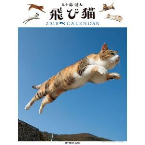 カレンダー 2018 壁掛け 動物 飛び猫 プレゼントカレン...