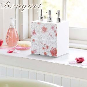 上品な色合いと花柄が美しい「ブーケシリーズ」のシャンプーディスペンサーです。 ボトル正面にさりげなく...