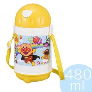 ■商品詳細保冷効果のあるアンパンマンのストロー付き水筒!【子供用水筒アンパンマンストロー付480ml...