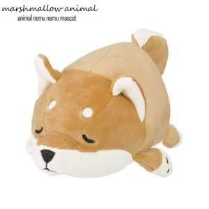 ぬいぐるみ もちもち マスコット マシュマロアニマル イヌ コタロウ 犬 柴犬 茶柴 日本犬 動物 アニマル ふわふわ 小さい|gita