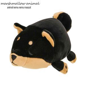 ぬいぐるみ もちもち マスコット マシュマロアニマル イヌ コテツ 犬 柴犬 黒柴 日本犬 動物 アニマル ふわふわ 小さい|gita