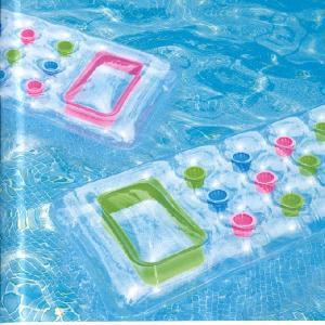 インテックス 浮き輪 フロート プール用18ポケットラウンジマット 59894/Suntannner Lounges188x71cm