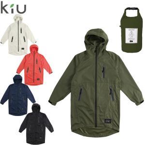kiu レインコート メンズ/レディース レインウェア キウ RAIN ZIP UP 全5色 K116 ジップアップ レインポンチョ|gita