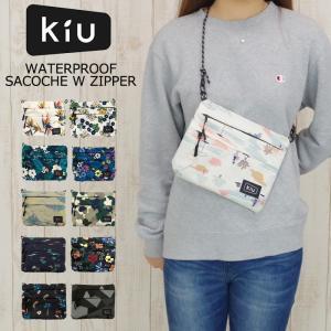 メール便 Kiu バッグ サコッシュ 防水 サコッシュバッグ WATERPROOF SACOCHE W ZIPPER メンズ/レディース 全15種類 K67|gita