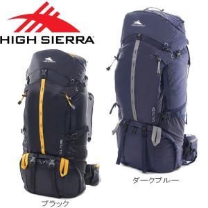 adfd85badfe4 HIGH SIERRA/ハイシェラ リュック メンズ コルツ 65 DX ザック バックパック ブラック/ブルー 65L 104877 大容量 バッグ  登山 アウトドア