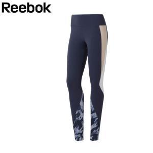 Reebok リーボック レギンス スポーツ レディース タイツ レズミルズ LUX カラーブロックタイツ W ネイビー S/M/L EJ9926 トレーニング ウェア パンツ スポーツ|gita
