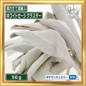 無農薬 高品質 カリフォルニア産 ホワイトセージ クラスター 50g 枝付き|giyaman-jewellery